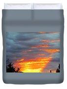 Sunset Christchurch New Zealand Duvet Cover