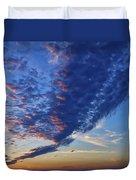 Sunset Cloud Formation Duvet Cover
