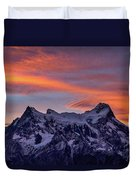 Sunset Clouds At Cerro Paine Grande #3 - Chile Duvet Cover