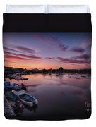 Sunset Clouds In The Sea Duvet Cover