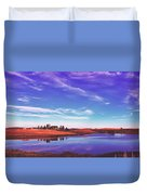 Sunset Clouds Over Wyoming Duvet Cover