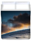 Sunset Clouds Reflect Duvet Cover