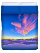Sunset Colors Over White Sands National Duvet Cover