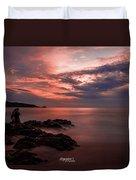 Sunset Couple Duvet Cover