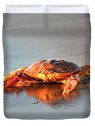 Sunset Crab Duvet Cover