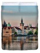 Sunset Cruise Prague Duvet Cover