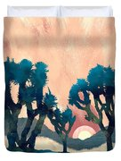Sunset Desert Canyon Duvet Cover