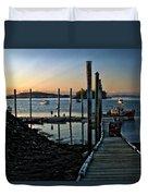 Sunset Dock Duvet Cover