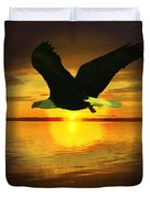 Sunset Eagle Duvet Cover