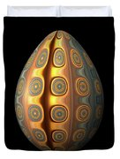 Sunset Egg With Concentric Circles Duvet Cover