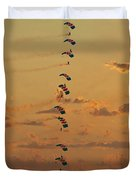 Sunset Falcons Stack Formation Duvet Cover