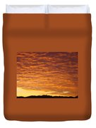 Sunset Fiery Orange Sunset Art Prints Sky Clouds Giclee Baslee Troutman Duvet Cover