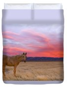 Sunset Filly Duvet Cover