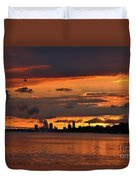 Sunset Flight Of The Tern Duvet Cover
