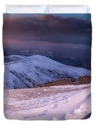 Sunset Following The Mourne Wall Duvet Cover