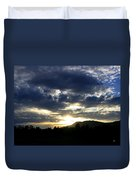 Sunset From Mcarthur Island Duvet Cover