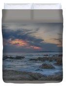 Sunset From Pacific Grove Duvet Cover