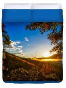 Sunset From The Blue Ridge Parkway Duvet Cover