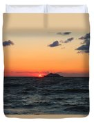 Sunset From The Ferry Duvet Cover