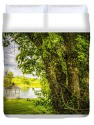 Sunset Gazebo Duvet Cover