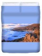 Sunset Glow Along Pacific Coast Duvet Cover