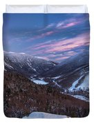 Sunset Glow Over Cannon Mountain Duvet Cover