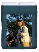 Sunset Glow With Cool Music Duvet Cover