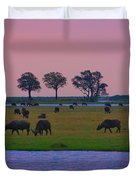 Sunset Grazing  Duvet Cover