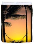 Sunset Hammock Duvet Cover
