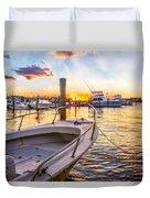 Sunset Harbor Duvet Cover
