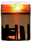 Sunset Hecla Island Manitoba Canada Duvet Cover