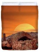 Sunset House Duvet Cover