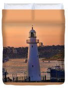 Sunset Hues Cockle Bay Wharf Duvet Cover