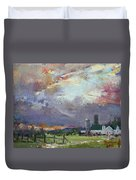 Sunset In A Troubled Weather Duvet Cover