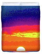 Sunset In Abstract 500 Duvet Cover