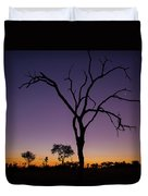 Sunset In Africa Duvet Cover