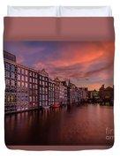 Sunset In Amsterdam Duvet Cover
