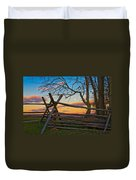 Sunset In Antietam Duvet Cover