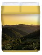 Sunset In Appalachia Duvet Cover