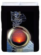 Sunset In Bell Of Sax Duvet Cover