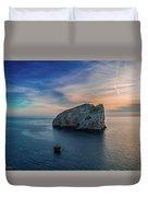Sunset In Capo Caccia Duvet Cover