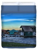 Sunset In Coffee Duvet Cover