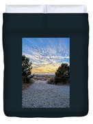 Sunset In El Prado Duvet Cover