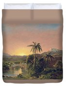 Sunset In Equador Duvet Cover