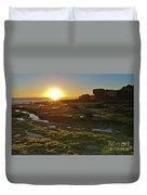 Sunset In Gale Beach. Albufeira, Portugal Duvet Cover
