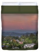Sunset In Happy Valley Duvet Cover