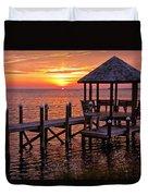 Sunset In Hatteras Duvet Cover