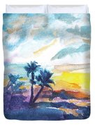 Sunset In Hawaii Duvet Cover