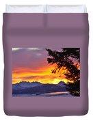 Sunset In Homer Alaska Duvet Cover