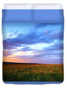 Sunset In Ithaca South Hill Duvet Cover